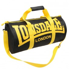 Сумка Lonsdale Barrel Bag Black/Yellow